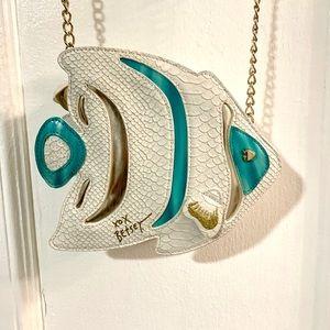 Betsy Johnson Fish Crossbody Bag! Gently Used